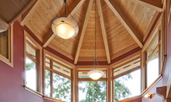 Featured home vaulted ceiling
